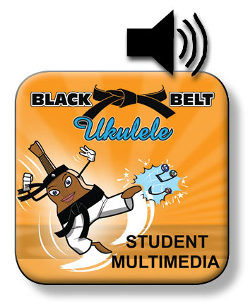 Black Belt Ukulele Student Book Two, Belts, Chord Stickers & Audio App