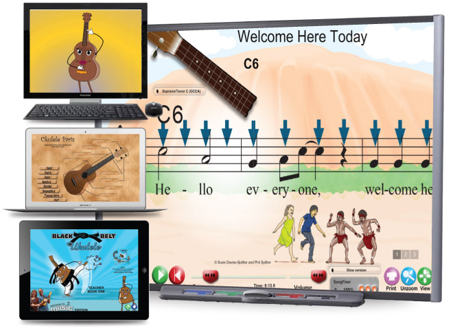 Black Belt Ukulele Teacher's Multimedia One - Ten Devices
