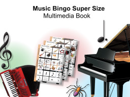 Musical Bingo Super Size Multimedia Game