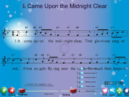 It Came Upon the Midnight Clear - SongTorch Multimedia File