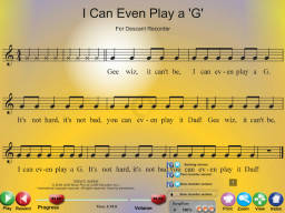I Can Play a G - SongTorch Multimedia File