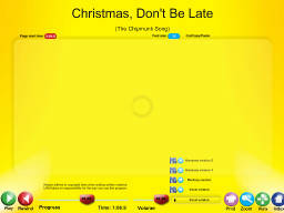 Christmas, Don't Be Late - SongTorch Audio Only File