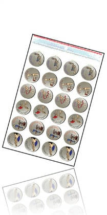 Tunetoon Metallic Recorder Stickers