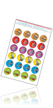 Tunetoon Stickers Variety Pack -Gold,Metallic,Junior, Middle