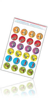Tunetoon Stickers Variety Pack -Recorder,Gold,Metallic,Junior, Middle