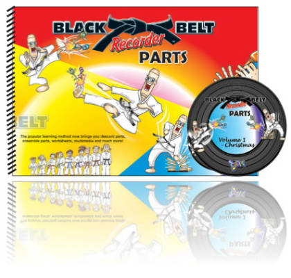 Black Belt Recorder Parts Vol 1 Christmas Big Book & CD