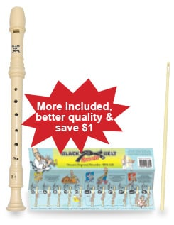 Black Belt Descant (Soprano) Recorder BBR-S4B