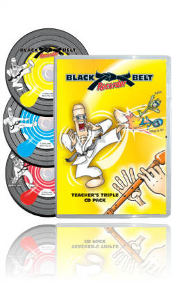 Black Belt Recorder - Int Class Pack Lev 1 (DVD, Tchrs CDs & 15 Stdt books)