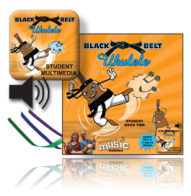 Black Belt Ukulele - Student Book Two, Belts, Chord Sticker Sheet & CD - WTM Edition