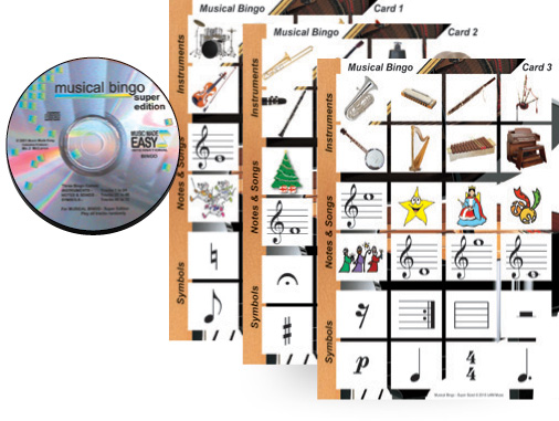 Triple Bingo Pack (Orchestra, percussion & Musical)