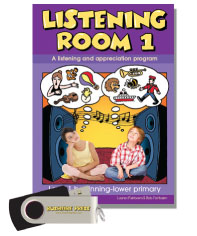 Bushfire Press - Listening Room (Junior Primary) Level 1 Book & USB
