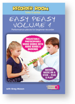 Recorder Room Take 5 Series, Easy Peasy Volume 1 USB