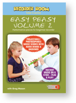 Recorder Room Take 5 Series, Easy Peasy Volume 2 USB