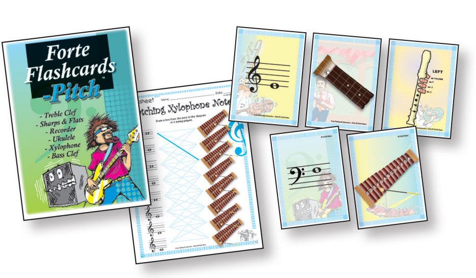 Forte Flashcards - Pitch Multimedia & Physical Copy of Worksheets and Flashcards