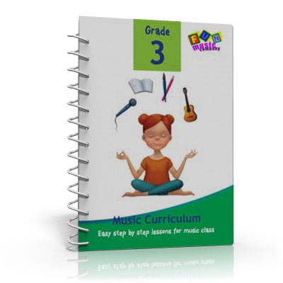 Fun Music Company - Music Curriculum Grade 3, Guide Book, CD and Online Content Annual Subscription