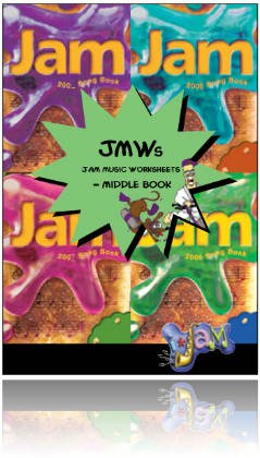 Jam Music Worksheets - Middle Book