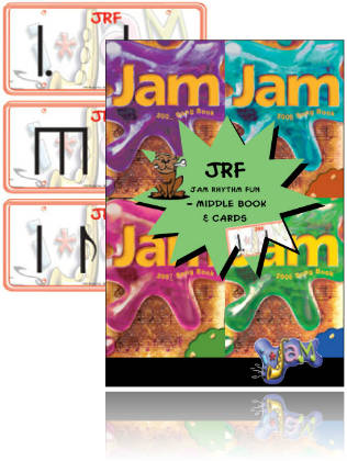 Jam Rhythm Fun - Set of 3 separate books, Cards & CD