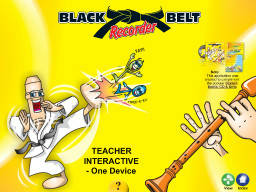 Black Belt Recorder Teacher's Multimedia 1-3 - Five Devices