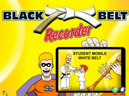 Black Belt Recorder Student White Mobile (iPad/iPod/iPhone only)