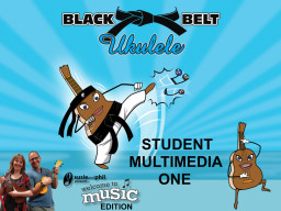 Black Belt Ukulele Student Book One, Audio App and Belts