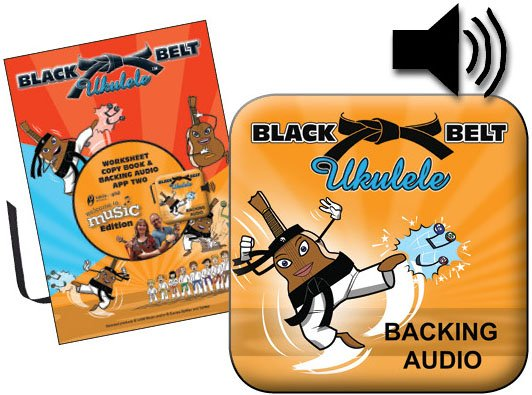 Black Belt Ukulele Worksheet Copy Book & Backing Audio Two