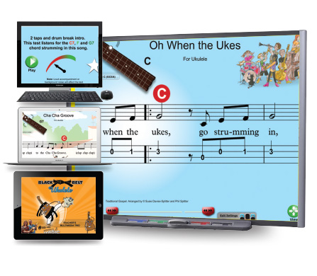 Black Belt Ukulele Teacher's Multimedia Two - Single Device