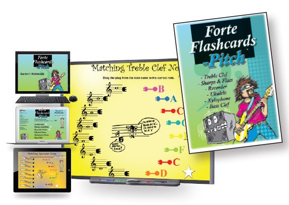 Forte Flashcards - Pitch Multimedia & Printable Worksheets and Flashcards