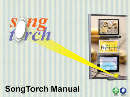 SongTorch Manual