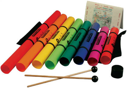 Boomwhacker Pack - 8 tubes & xylo holder