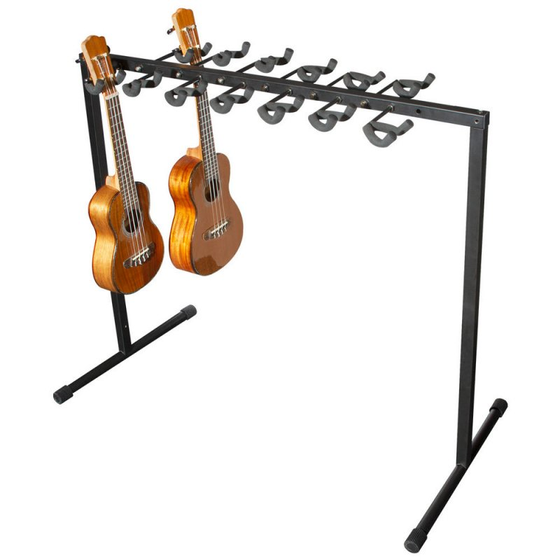 Ukulele Rack for 12 - floor or wall mountable