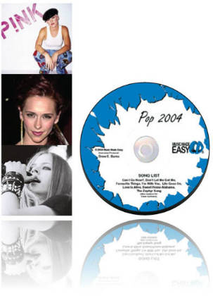 Pop Choir 2004 CD, Lyrics and Notation