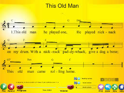 This Old Man - SongTorch Multimedia File