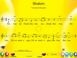 Shalom - SongTorch Multimedia File