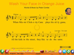 Wash Your Face in Orange Juice - SongTorch Multimedia File