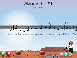 Advance Australia Fair - SongTorch Multimedia File