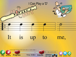 I Can Play a 'D'- SongTorch Multimedia File