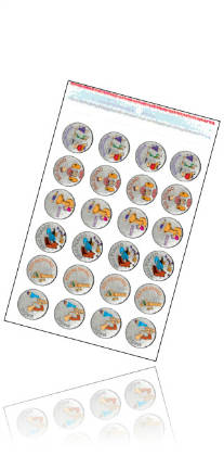 Tunetoon Metallic Music Stickers - 72